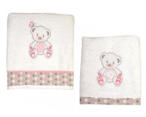 Βρεφικές Πετσέτες Baby StarSweet Dots Σετ 2τμχ