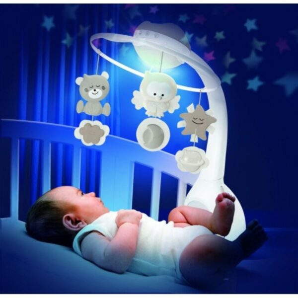 Mουσικό περιστρεφόμενο Infantino 3 σε 1 projector musical mobile Ecru