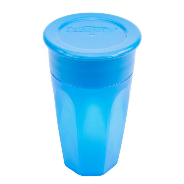Εκπαιδευτικό κύπελλο Dr.Browns Cheers 360°με καπάκι 300ml Blue