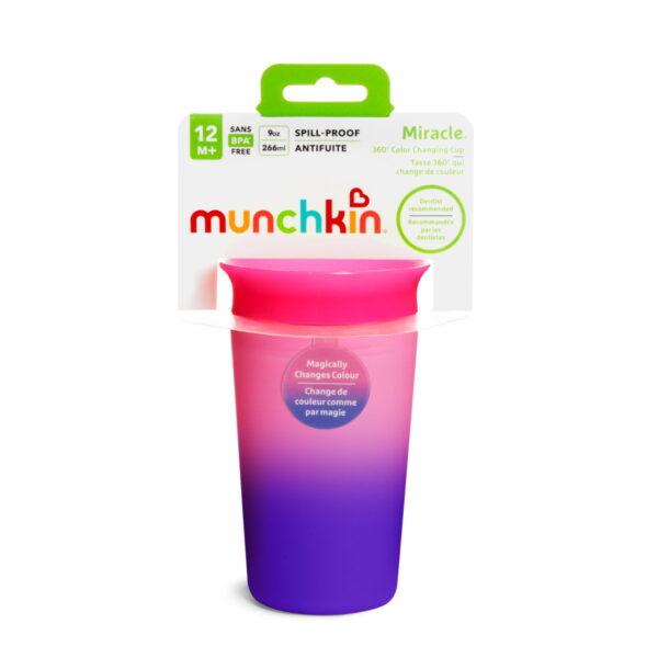 Κύπελο Miracle 360° Munchkin Color Changing Cup 296ml Pink