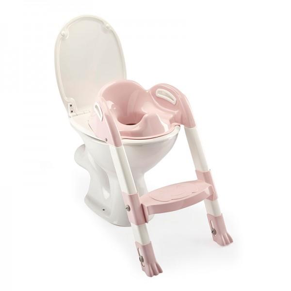 Στεφάνι WC με σκαλοπάτι Thermobaby Kiddyloo Pink