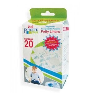 Potette Plus Ανταλλακτικές βιοδιασπώμενες σακούλες σε ρολό 20τμχ